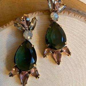 ❤️JCrew Multicolor Pear drop Statement Earrings